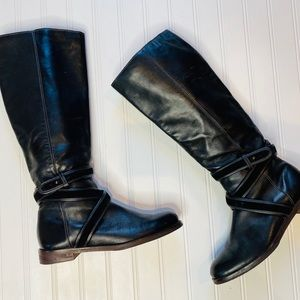 Cole Haan black tall riding boot